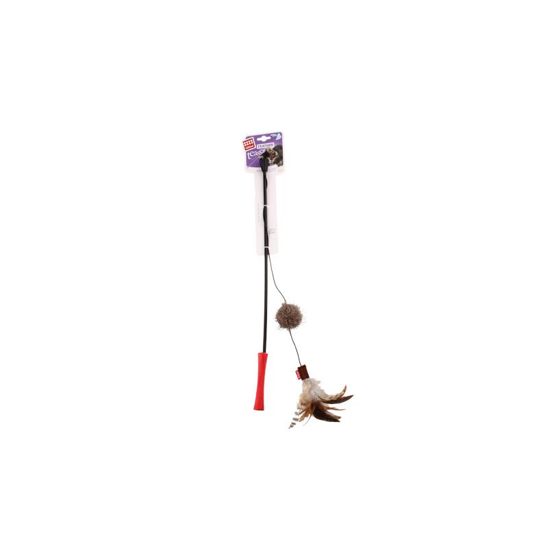 GIGWI贵为—魔力逗猫棒系列—球+羽毛舞动